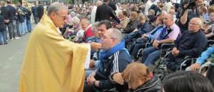 Il Vescovo Mogavero a Lourdes.